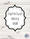 Farmhouse Word Wall