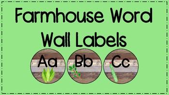 Farmhouse Word Wall Labels