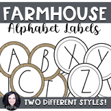 Farmhouse Word Wall Labels (Dunn Inspired)
