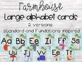 Farmhouse alphabet strip
