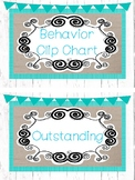 Farmhouse and Teal Behavior Clip Chart. Classroom Management.