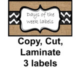 Farmhouse labels - copy, cut, laminate
