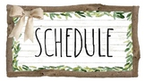 Farmhouse (rae dunn inspired font) Schedule Cards and Daily 5/Cafe Poster