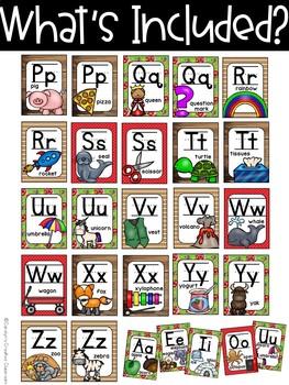 Farmhouse set #2 Alphabet Posters - Farmhouse Classroom Decor