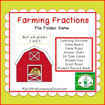 Farming Fractions File Folder Game