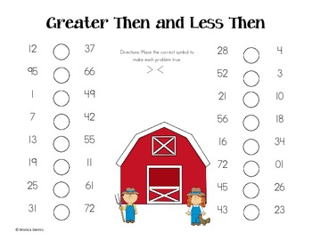 Farming Greater Than and Less Than