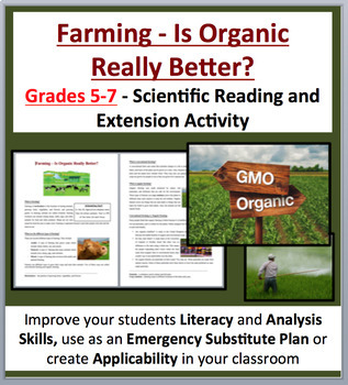 Farming – Is Organic Really Better? - Science Reading Article - Grades 5-7