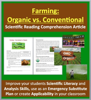 Farming: Organic vs. Conventional - Science Reading Article - Grade 8 and Up