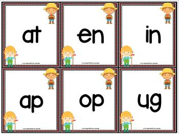 LOW PREP Farm Themed Roll a Word Family Word Activity