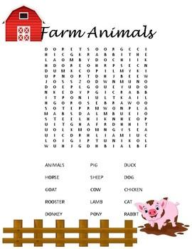 Farming and Farm Animal Wordsearch Bundle
