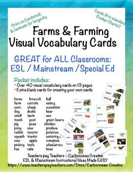 Farms & Farming Visual Vocabulary Cards