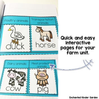 Farm Activities Unit: Interactive Notebook