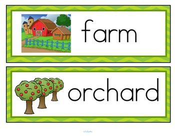 Farms Vocabulary Activities and Centers for Preschool and Kindergarten