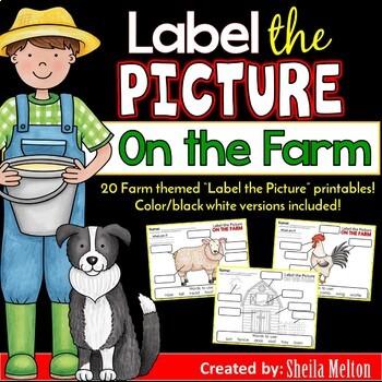 Farm Animals Label the Picture
