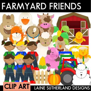 Farmyard Friends Clip Art Set