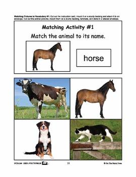 Farmyard Friends - Vocabulary Activities PreK-K