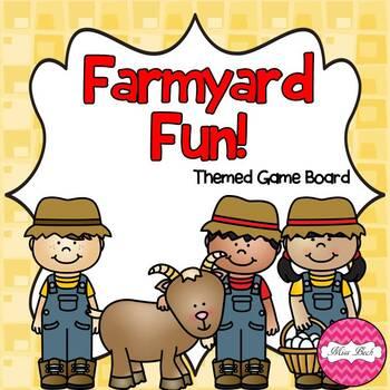 Farmyard Fun! (Farm Themed Math Game Board)