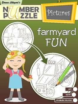 Farmyard Fun Number Puzzle Pictures