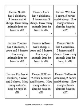 Farmyard Math Word Problems I