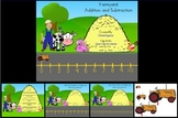 Farmyard Number Line Addition and Subtraction Power Point Lesson