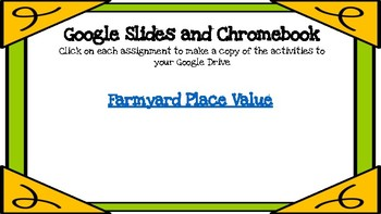 Farmyard Place Value-A Digital Math Center (Compatible with Google Apps)
