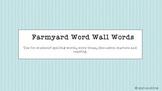 Farmyard Word Wall Words