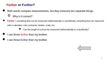 Farther or Further Grammar