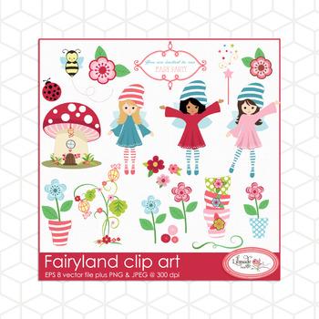 Faryland clip art, fairy clip arts