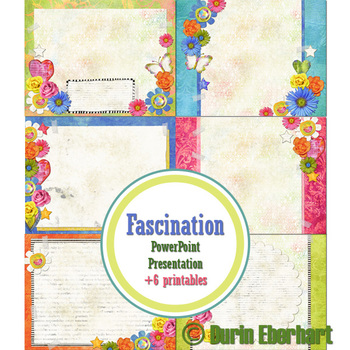 Fascination PowerPoint Presentation and Printable Digital Paper