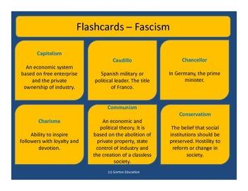 Fascism - Flash cards