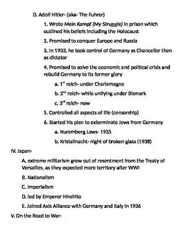 Global 2: Fascism Notes
