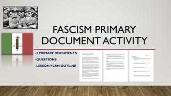 Fascism Primary Document Activity