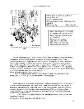 Fascism, Nazism and World War II