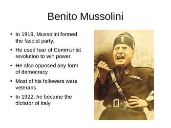 Fascists Gain Power in Italy