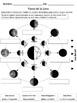 Ejercicio de las Fases de la Luna (Moon Phases Worksheet)
