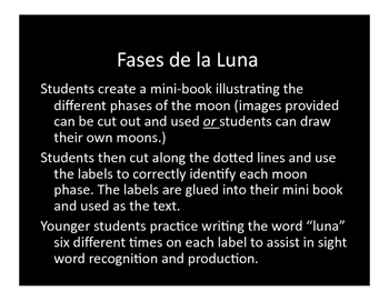 Fases de la Luna: Phases of the Moon