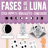 Fases de la Luna Stick Puppets, Brazaletes y Comecocos (Di