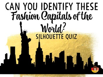 Fashion Capitals of the World - Quiz and Mini-Flip Book