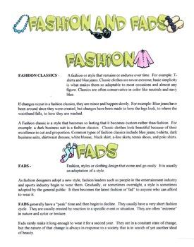 Fashion Classics & Fads Over The Generations Lesson