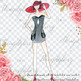 Fashion Clip Art Fashion Illustration Hand Drawn Glamour Style