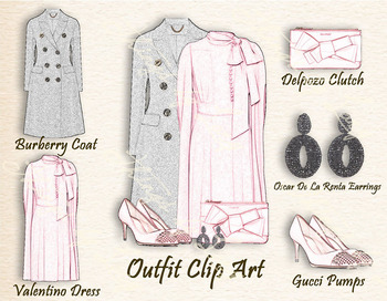 Fashion Clip Arts Outfit Clip Arts Luxury Fashion Style