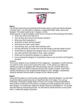Fashion Designer Research Project