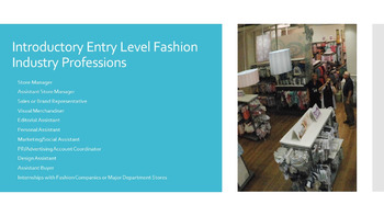 Fashion Essentials Power Point and Assignments