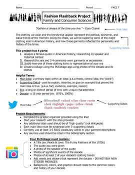 Fashion History Interdisciplinary iPad Research Project (Common Core/TC)