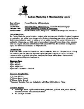 Fashion Marketing Merchandising Syllabi
