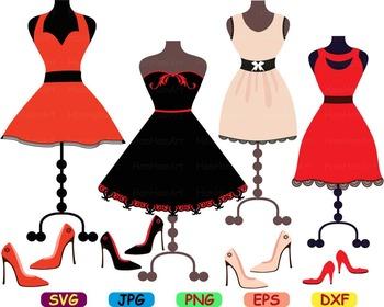 Fashion Model lady school wedding sexy dress Clip art svg women shoe summer -69S