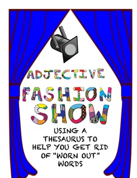 Fashion Show Adjective Activity