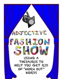 Fashion Show Adjective Activity