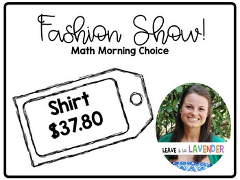 Fashion Show Math: Morning Choice Center
