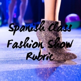 Fashion Show Rubric